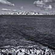Madison Skyline - Black And White Poster