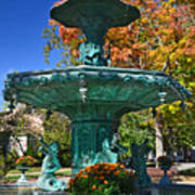 Madison Water Fountain In Fall Poster