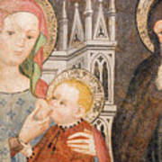 Madonna And Child Fresco, Italy Poster
