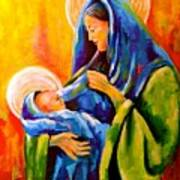 Madonna And Child Painting Poster