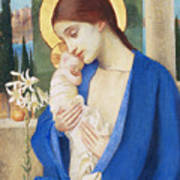 Madonna And Child Poster by Marianne Stokes