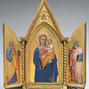 Madonna And Child With Saint Peter And Saint John The Evangelist [middle Panel] Poster