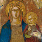 Madonna And Child With Two Angels Poster