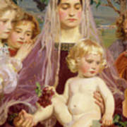 Madonna Of Giverny, 1901 Detail Poster