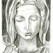 Madonna Of The Pieta Poster by John Keaton
