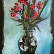 Magenta Oleander Poster