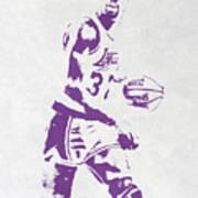 Magic Johnson Los Angeles Lakers Pixel Art Poster