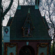Magical Christmas Biltmore Entrance Poster