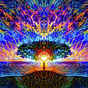 Magical Tree And Sun 2 Poster