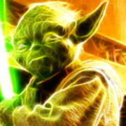 Magical Yoda Poster by Paul Van Scott