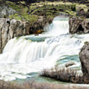 Magnificence Of Shoshone Falls Poster
