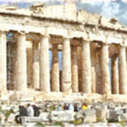 Magnificent Acropolis In Athens Poster