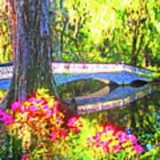 Magnolia Gardens Bridge Poster