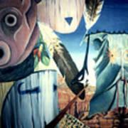 Magpie Mocks Kachinas Clowns And Fools Poster