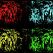 Maidenhair Ferns Pop Art Poster