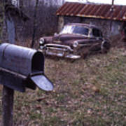 Mailbox Car Poster