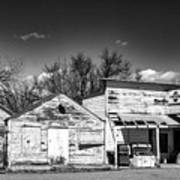 Main Street In Fort Shaw, Montana Poster