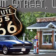 Main Street, Usa Camaro Poster