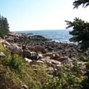 Maine Atlantic Ocean Coast Poster