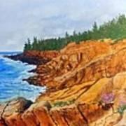 Maine Coast Acadia National Park Poster