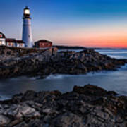 Maine Coastline Sunrise Poster