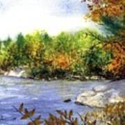 Maine Fall Pond Poster