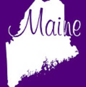 Maine In White Poster