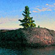 Maine Stone Island Sunrise Poster