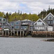 Maine Village Poster