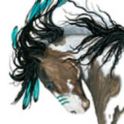 Majestic Turquoise Horse Poster