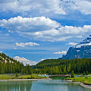 Majestic View At Cascade Ponds - Canadian Rockies Poster