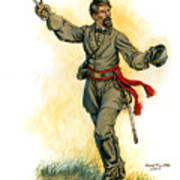 Major General Patrick R. Cleburne Poster