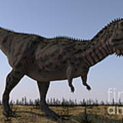Majungasaurus In A Barren Environment Poster