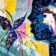 Make A Wish Abstract Art Figure Painting  Poster