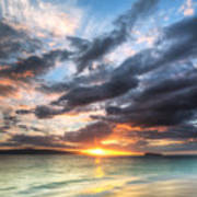 Makena Beach Maui Hawaii Sunset Poster