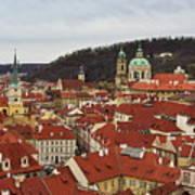 Mala Strana Rooftops. Prague Spring 2017 Poster