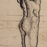 Male Act   Study For The Truth Poster by Ferdninand Hodler