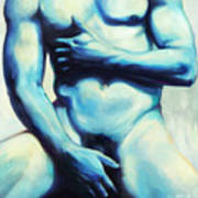 Male Nude 3 Poster by Simon Sturge