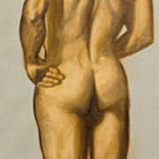 Male Nude Self Portrait By Victor Herman Poster