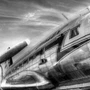 Malev Airlines Ilyushin Il-14 Poster