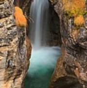 Maligne Canyon Vertical Panorama Poster