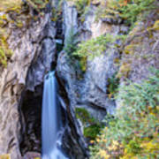 Maligne Canyon Waterfall Poster