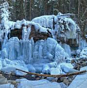 Maligne Canyon Winter Wonders Poster