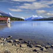 Maligne Lake -- Jasper Alberta Canada Poster by Daniel Hagerman