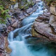 Maligne River In Autumn Poster