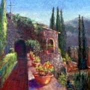 Mallorcan Monastery Poster by Shirley Leswick