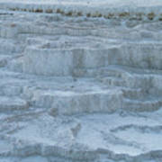 Mammoth Hot Springs Travertine Terraces One Poster