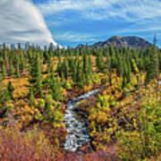 Mammoth Lakes Autumn Falls Poster