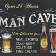 Man Cave Chalkboard Sign Poster