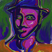 Man In Blue Hat Poster